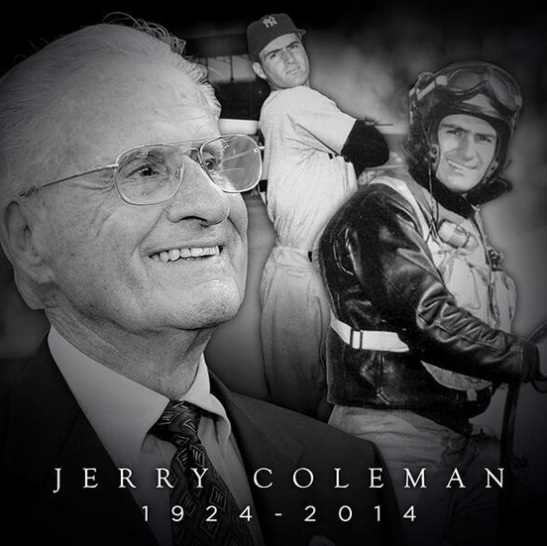 Jerry Coleman, voice of San Diego Padres, dies 1-5-2014