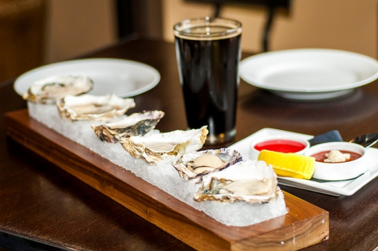 Oysters on ice at Crush and Brew Old Town Temecula Restaurant (c) Crispin Courtenay