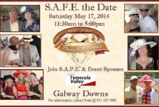 S.A.F.E. the Date for Safe Alternatives for Everyone 2014 fundraiser at Galway Downs, Temecula