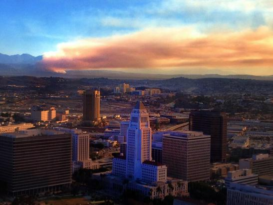 Jeffrey Bell of NBCLA4 captured this image of the Colby Fire