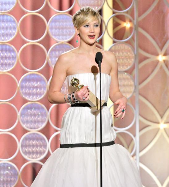 Jennifer Laurence 2014 Golden Globe awards (courtesy Eonline)
