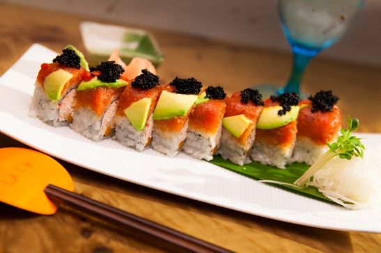 Red dragon roll at Umi Sushi and Oyster Bar at Pechanga Resort and Casino (c) Crispin Courtenay