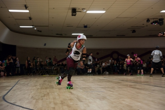 Wine Town Rollers Jammer in action