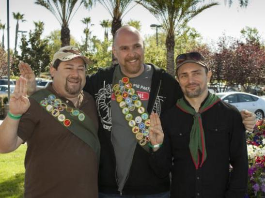 Adam Poch posing with Scouts at Reality Rally event (courtesy)