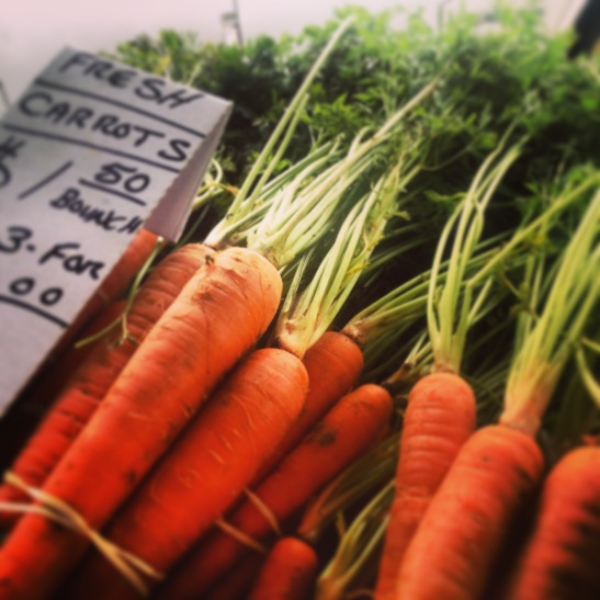 Organic Carrot Bunches at Promenade Temecula's Wednesday Farmer's Market