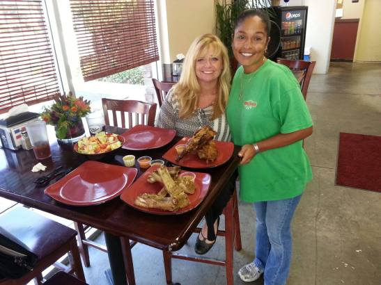 Xiomara Hall and Heather Rawlings at Tropical Barbecue in Murrieta