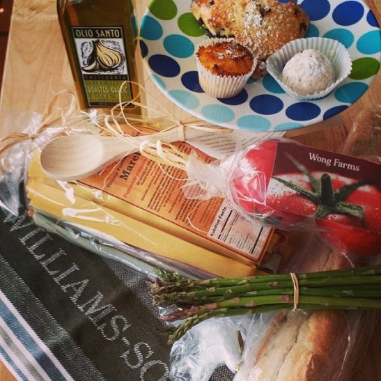 Bounteous gifts from Promenade Temecula's Farmers Market and Williams-Sonoma (Ashley Ludwig)