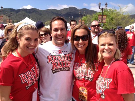 (l.) 2013 Reality Rally Team Adam - with Bridgetta Tomarchio, Adam Bouvet, Andrea Maue, Corie Maue