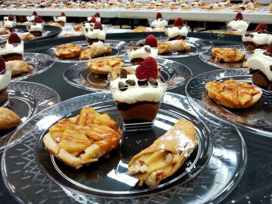 Desserts up close, by Andrea Maue of AJs Bakery and Catering Company