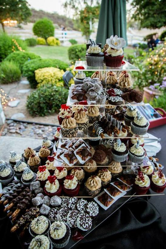 Dessert Tower by AJs Bakery for Temecula's  Rancho Damascitas event, 2014 (courtesy)