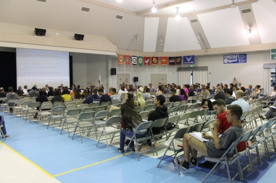 About 100 people attended the meeting. Photo/Maggie Avants