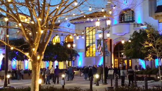 Crowds among the lights in Temecula