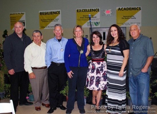 Sponsors, with Tammy Wilson, CEO of Oak Grove Center (c) Tanya Rogers
