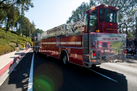 Cal Fire emergency vehicles on hand at Every 15 Minutes disaster drill (c) Crispin Courtenay