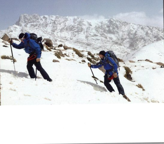 Expedition Impossible, a show of Extremes, as Jim Vaglica and fellow team member climb peak.