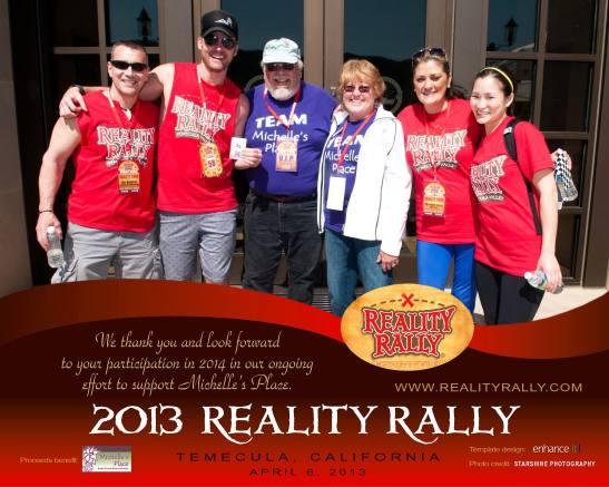 Jim Vaglica with 2013 Reality Rally team (courtesy)