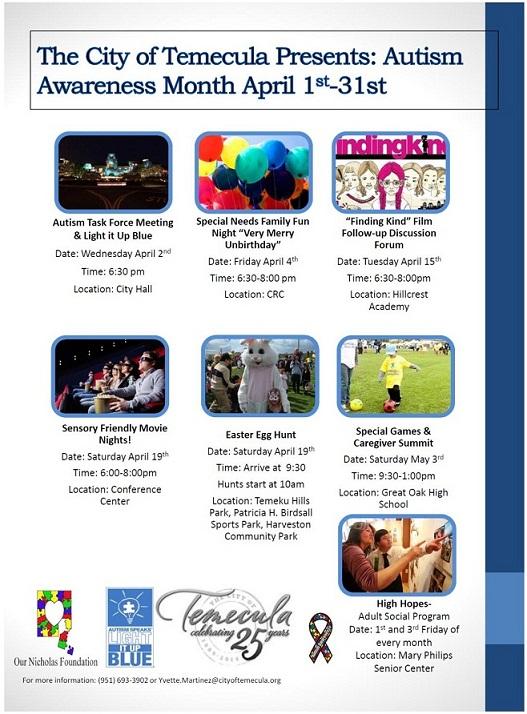 Autism Awareness Month Activities