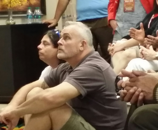 Richard Hatch, Survivor, looking on