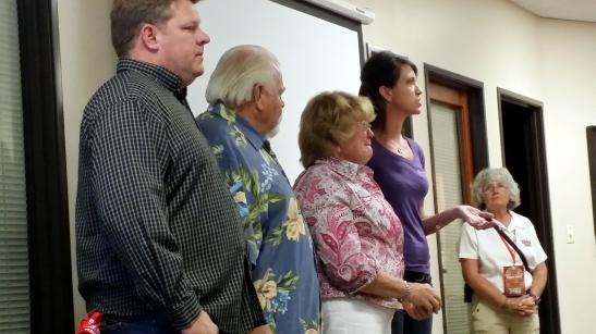 l. Wayne, Bill, Marilyn Watson, with Kim Goodnough, Gillian Larson
