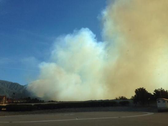 Etiwanda Fire, via @SBNational Forest Twitter