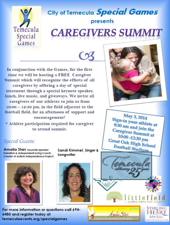 Caregiver Summit at Great Oak High School, May 3, 2014