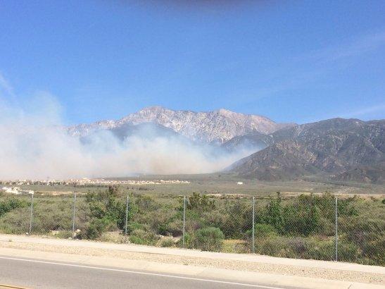Etiwanda Preserve fire in San Bernardino County, (c) Daily Bulletin