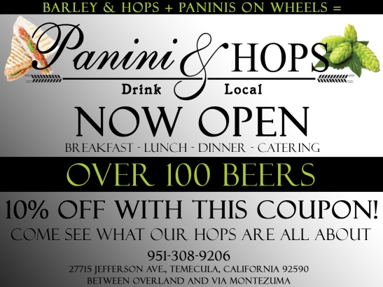 Panini and Hops Grand Open