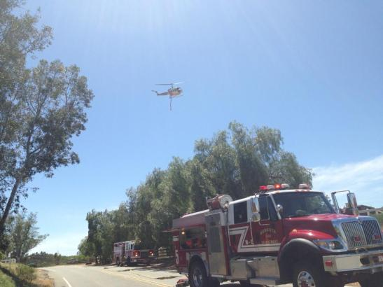 Air support for Murrieta Fire (c) Maggie Avants