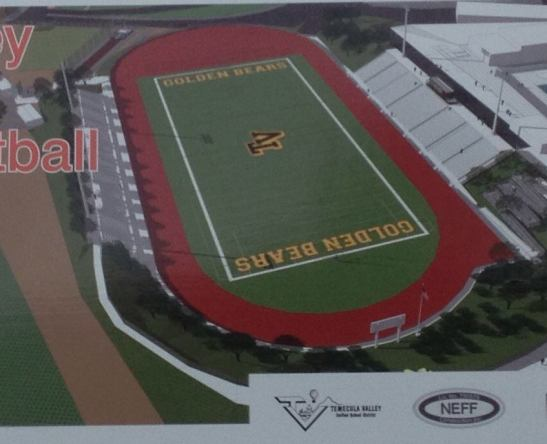 In with the new -- the vision for the new Temecula Valley High School athletic field and track.