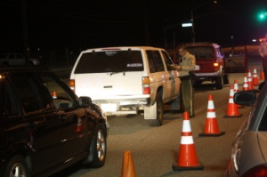 File Photo of DUI Checkpoint. (Credit: Daniel Lane)