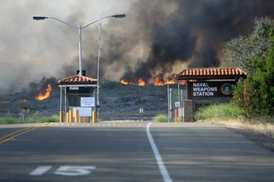 Tomahawk Fire threatens Camp Pendleton Marine Corps Base in north San Diego County, May 14, 2014. Photo/Cpl. Orrin G. Farmer