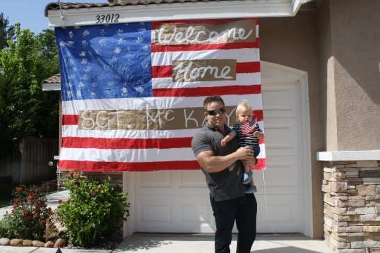 Memorial day homecoming with Temecula soldier