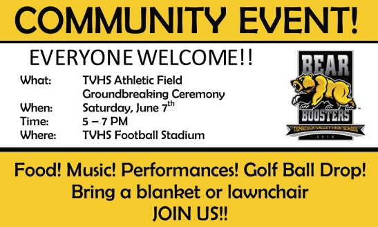 Temecula Valley High School invitation to walk across the field, one last time.