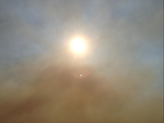 An eerie smoke covers the sun in Camp Pendleton (c) Aaron Balderson
