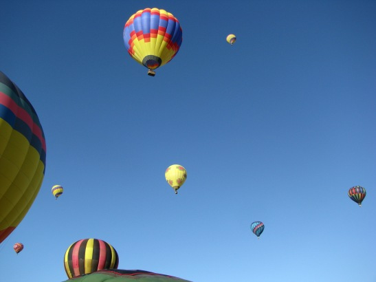 Temecula Valley Balloon and Wine Festival Launch sky filled with balloons