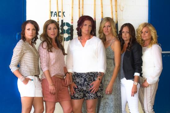 l. Heather Vail, Geraldine Strunsky, Lea Roberts, Niki Cronin, ,Carrie Peltzer, Marilyn Tipps (c) Shawna Sarnowski