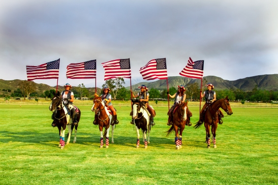 Cowgirl Color Guard of Temecula Horse Country at Temecula Valley Polo Club (c) Shawna Sarnowski