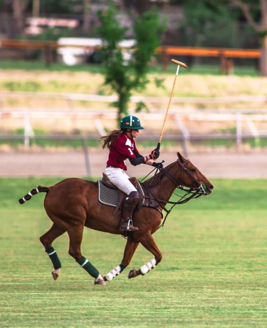 Mallet high, Geraldine Strunsky shows her many talents for Temecula Valley Polo Club (c) Shawna Sarnowski