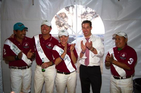 Temecula Valley Polo Club players, with Burke Strunsky (c) Shawna Sarnowski