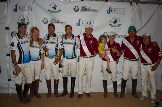 Members of both BMW Murrieta Polo and Temecula Valley Polo Club celebrate opening day (c) Shawna Sarnowski