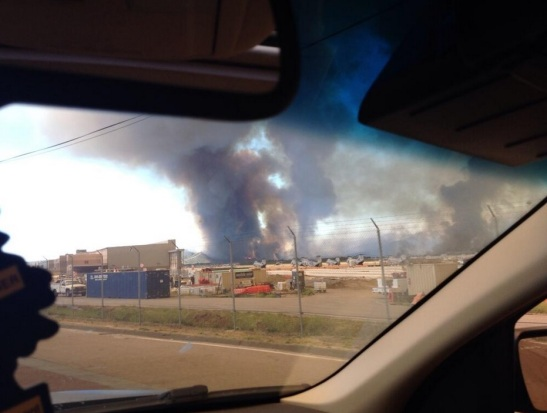 Camp Pendleton staff ordered to leave by 12:00 PM May 16, due to three fires burning on base (c) Aaron Balderson