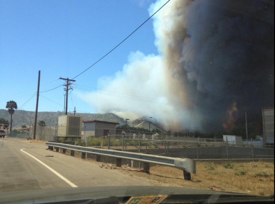 Billowing Smoke near Camp Pendleton's Las Pulgas Fire (c) Aaron Balderson