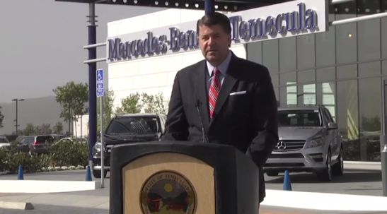 Mercedes-Benz General Manager, Bob Yateman at Temecula opening ceremony