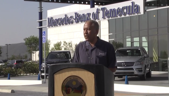 City of Temecula Councilman Chuck Washington at Mercedes-Benz of Temecula opening
