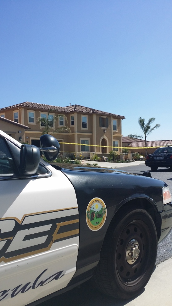 Riverside County Sheriff's office on scene for victim of second-story fall