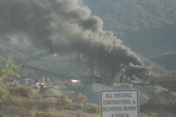BREAKING NEWS: Pacific Aggregates in Lake Elsinore Engulfed