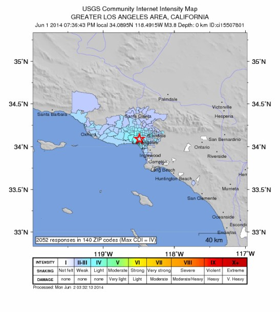 Did you feel it? Los Angeles Westwood earthquake measured 3.8 on Richter scale, but actually a shallow incident.